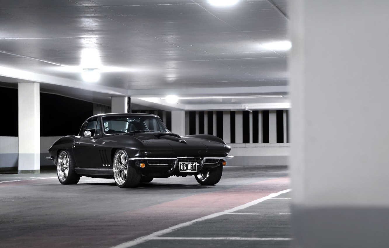 Photo wallpaper Corvette, Chevrolet, Black, 1964