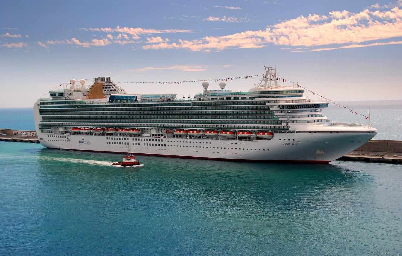 Photo wallpaper sea, photo, ship, cruise liner