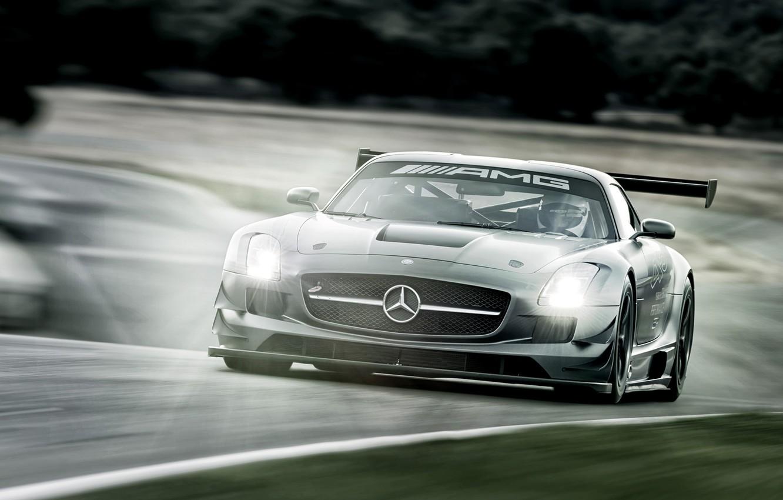 Photo wallpaper Mercedes-Benz, supercar, 2012, Mercedes, AMG, GT3, AMG, C197, SLS 63, 45th Anniversary