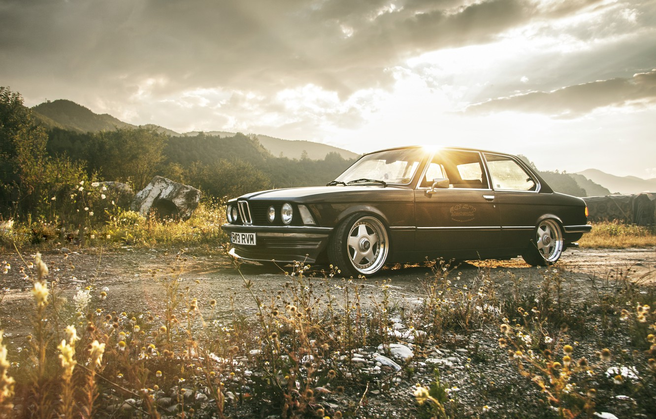 Photo wallpaper Retro, BMW, Tuning, Classic, Dawn, BMW, Drives, E21, Stance
