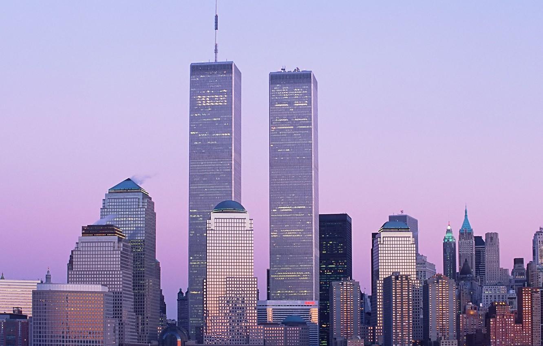 Photo wallpaper skyscrapers, new York, World trade center, WTC, World Trade Center
