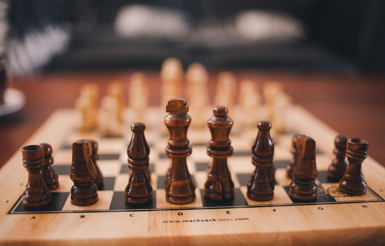 Photo wallpaper the game, chess, figure