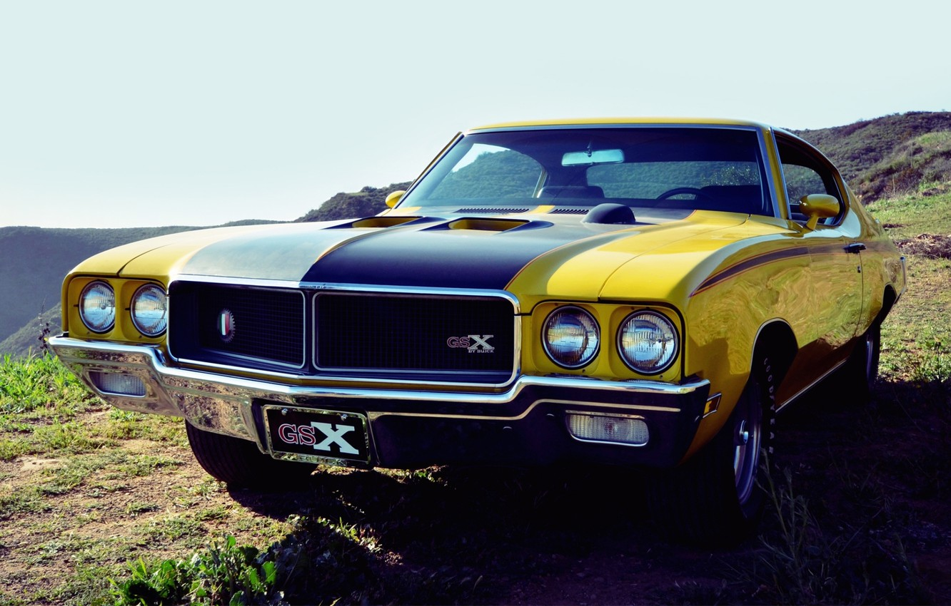 Photo wallpaper the sky, Buick, 1970, the front, Muscle car, GSX, Muscle car, Buick
