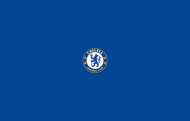 Photo wallpaper sport, logo, minimalism, soccer, chelsea
