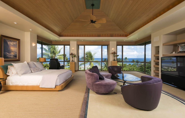Super Wallpaper Sea Flowers Palm Trees Sofa Windows Bed Spiritservingveterans Wood Chair Design Ideas Spiritservingveteransorg