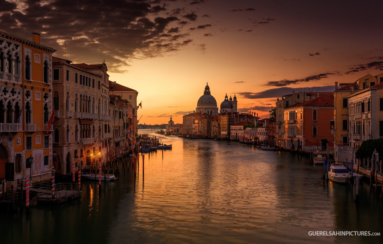 Photo wallpaper the sky, sunset, silence, home, Venice, Cathedral, channel, photographer, peace, Guerel Sahin