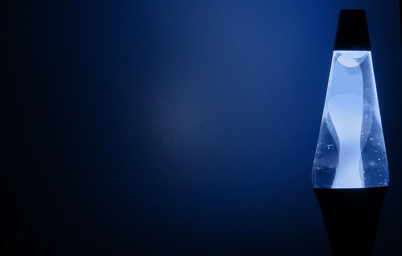 Photo wallpaper blue, lamp, manga