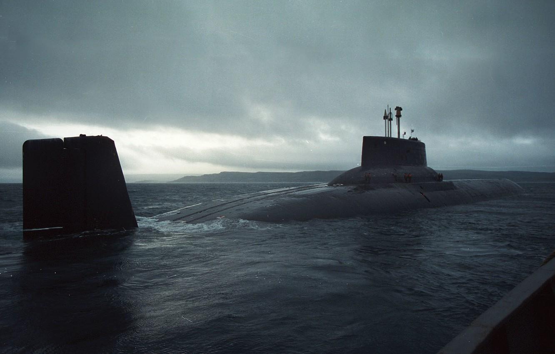 Photo wallpaper the ocean, boat, Shark, USSR, underwater, the, 941, TRPKSN, world's largest