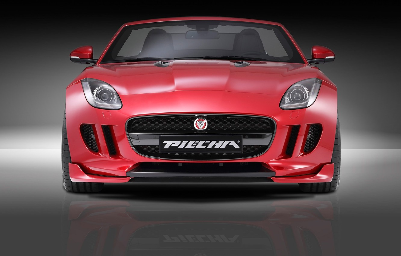 Photo wallpaper Roadster, Jaguar, Red, Design, Front, Tuning, F Type, Piecha Design, Piecha, Piecha Design Jaguar F …