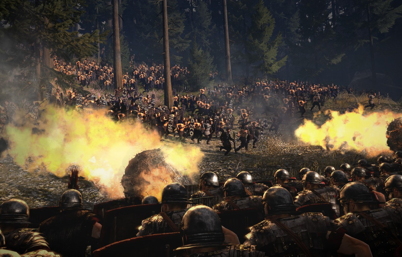 Wallpaper Ambush Battle Total War Strategy The Romans