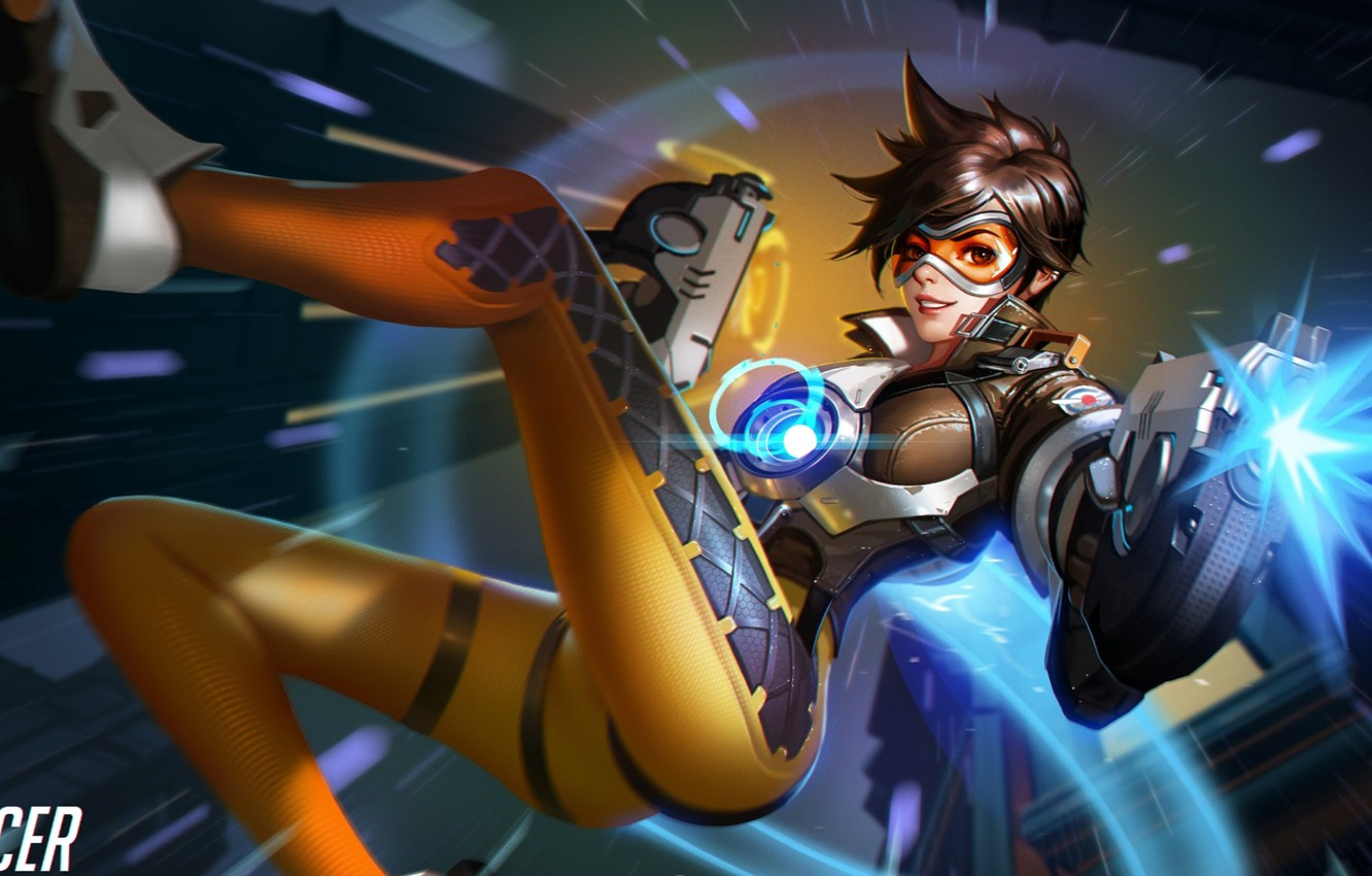 Photo wallpaper Game, Blizzard Entertainment, Overwatch, Tracer