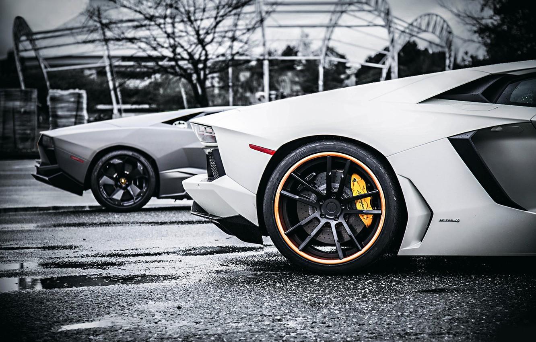 Photo wallpaper Lamborghini, Reventon, Style, White, Tuning, Aventador, Body VS