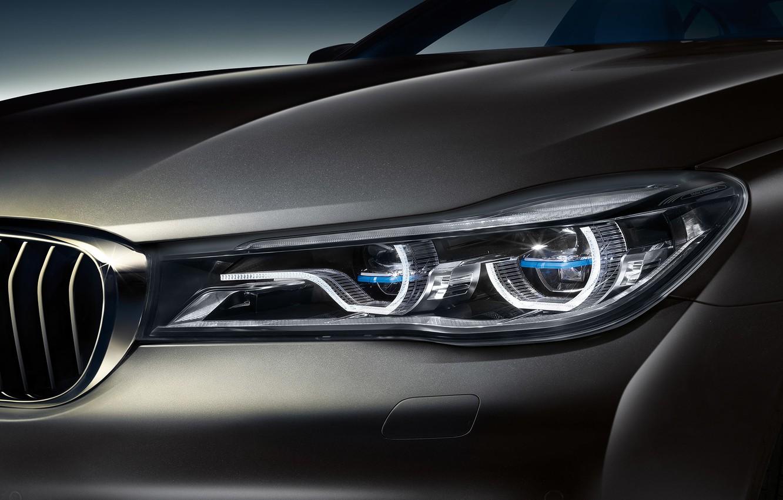 Photo wallpaper BMW, headlight, BMW, sedan, 7-Series, G12