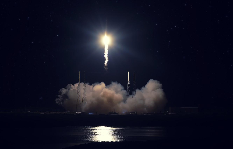 Wallpaper Start Spacex Falcon 9 Cape Canaveral Dragon