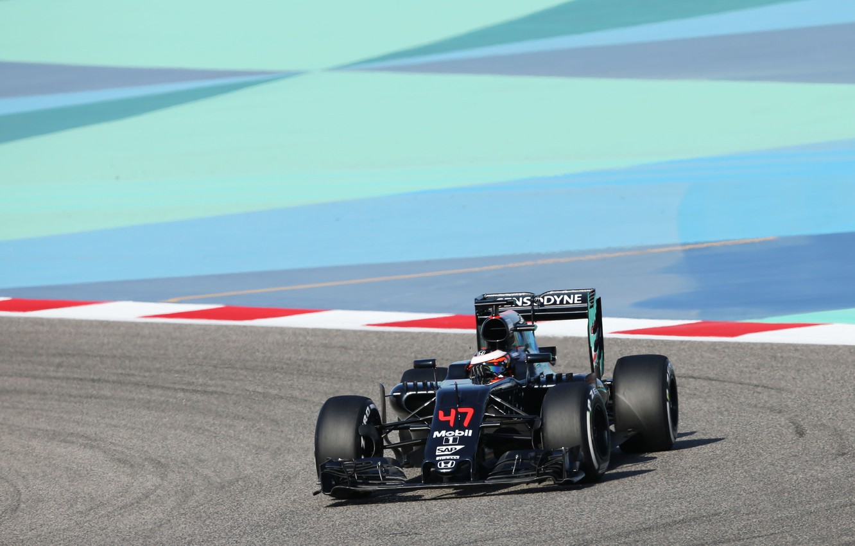 Photo wallpaper McLaren, track, Racer, Honda, The car, circuit, Stoffel Vandoorne