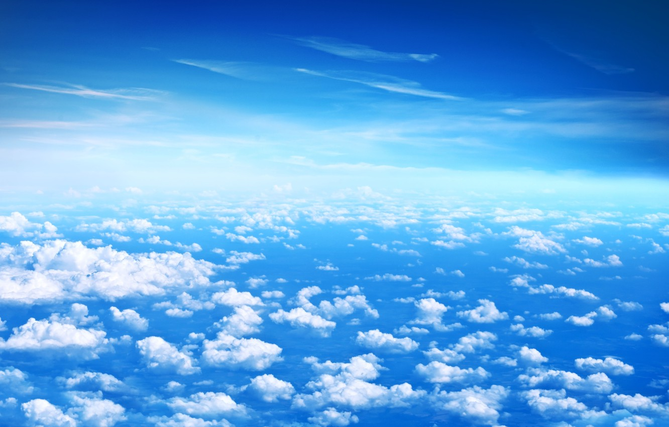 Wallpaper The Sky Clouds Blue Height White Beautiful Clouds Blue Sky Images For Desktop Section Pejzazhi Download