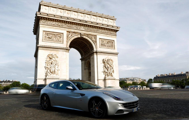 Photo wallpaper grey, coupe, arch, ferrari, Ferrari