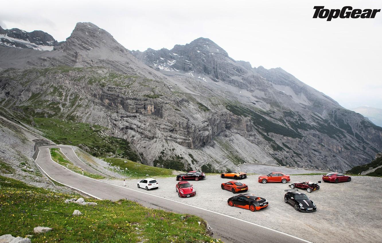 Photo wallpaper road, mountains, McLaren, Jaguar, Mustang, Ford, 911, Porsche, BMW, Volkswagen, Bugatti, Ferrari, Boss 302, Veyron, …