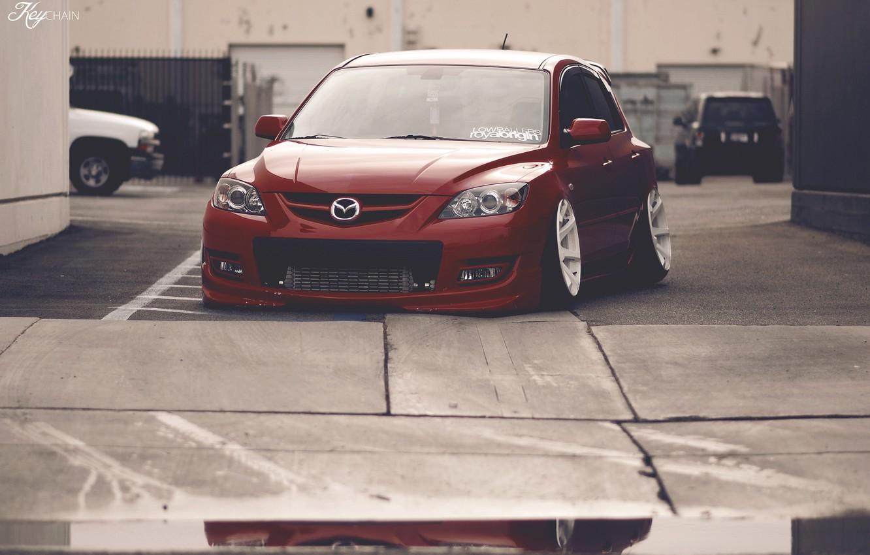 Photo wallpaper Mazda, jdm, stance, Low, BellyScrapers, speed3