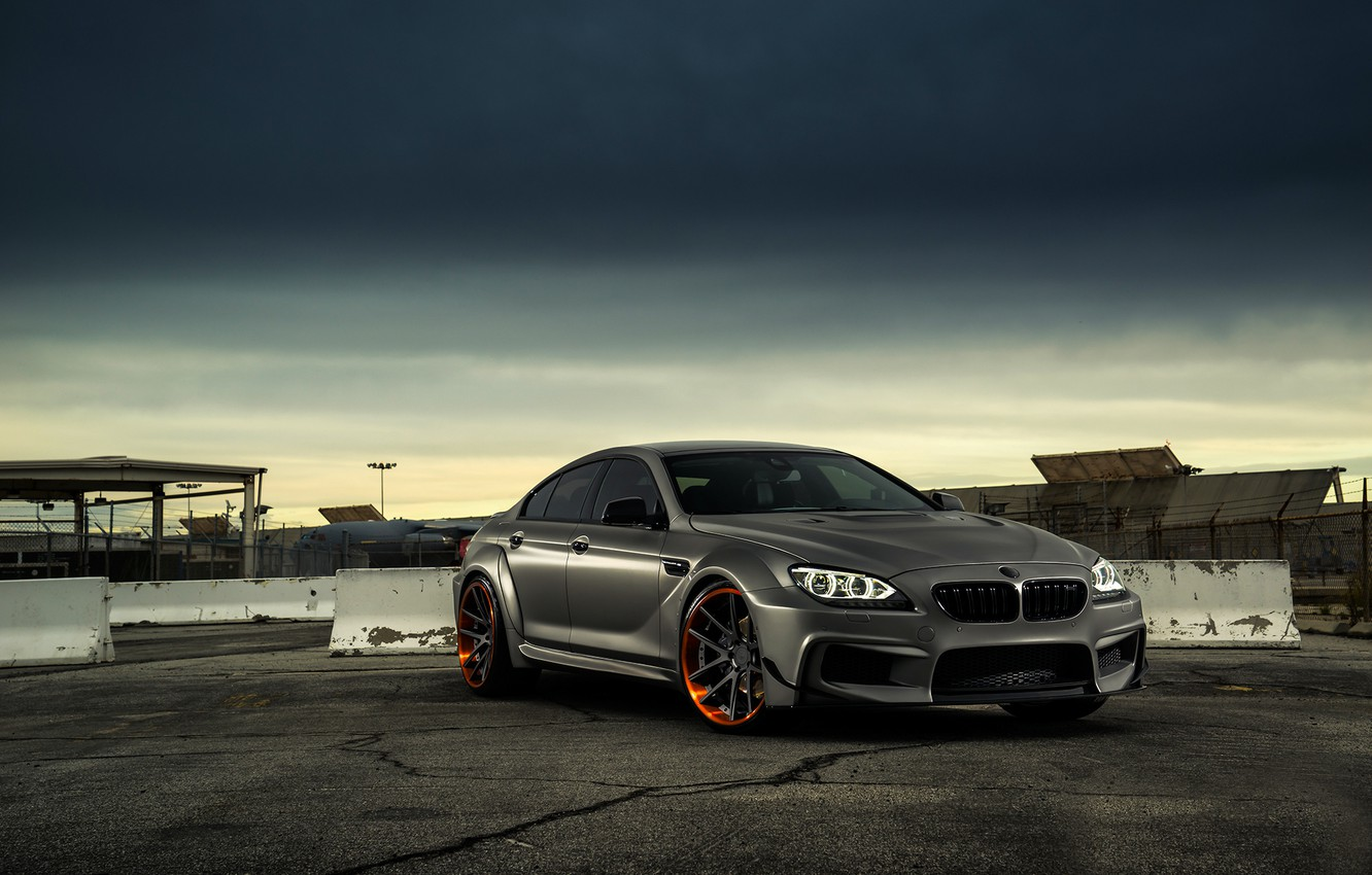 Photo wallpaper BMW, Front, Black, Coupe, Matte, Gran, JC Customs
