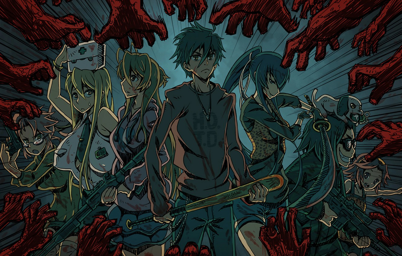 Wallpaper Girls Zombies Girl Guys Anime Art Of Takash Komuro