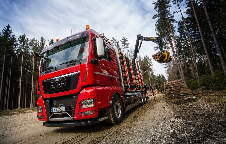 Photo wallpaper truck, the truck, MAN, machinery