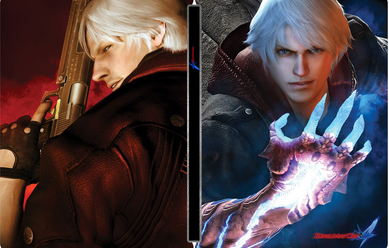 Wallpaper Dante Nero Devil May Cry 4 Red Queen Tri
