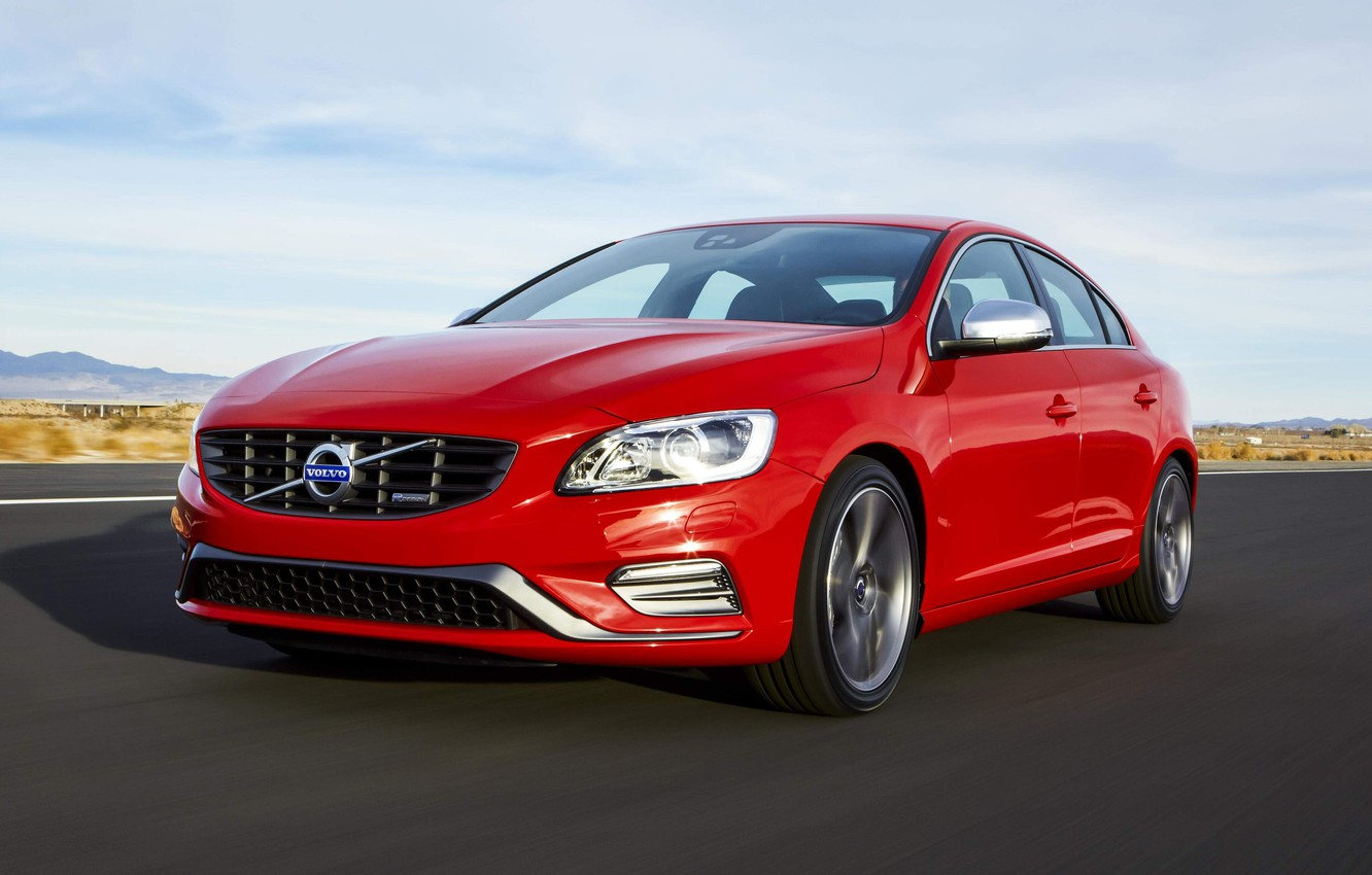 Photo wallpaper Volvo, red, s60, volvo, front