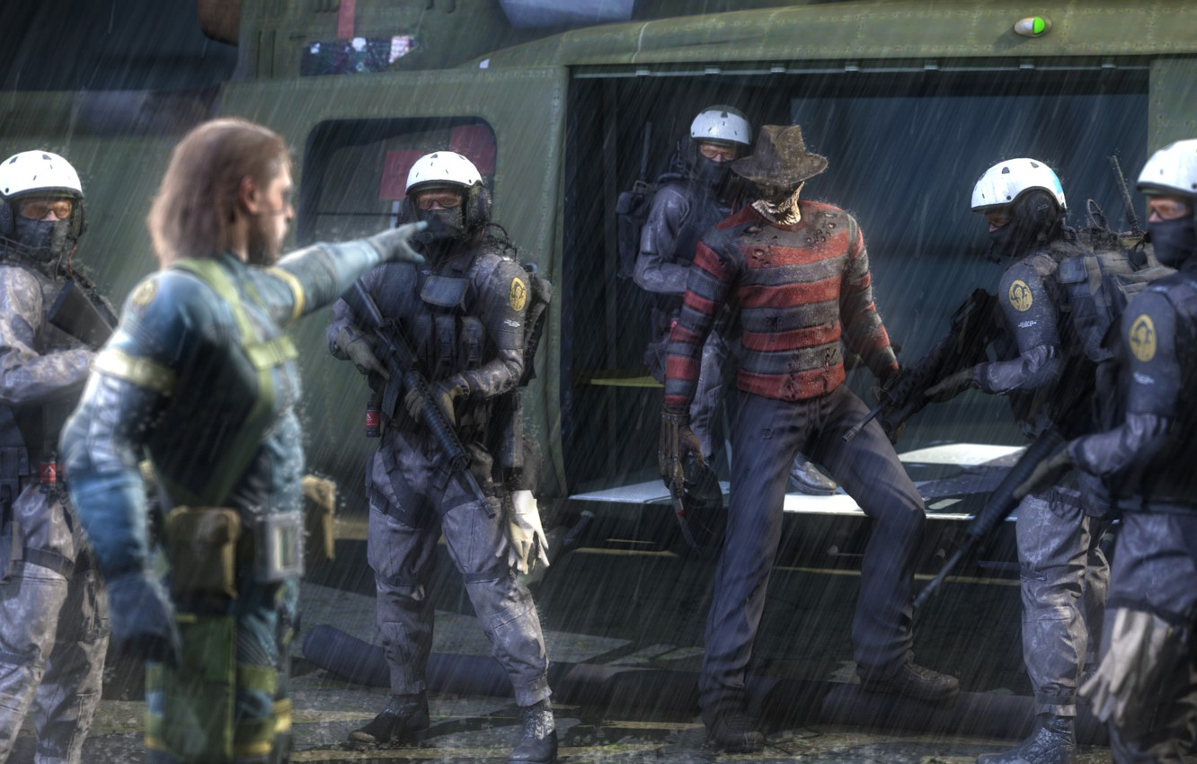 Wallpaper Rain Helicopter Snake Crossover Metal Gear