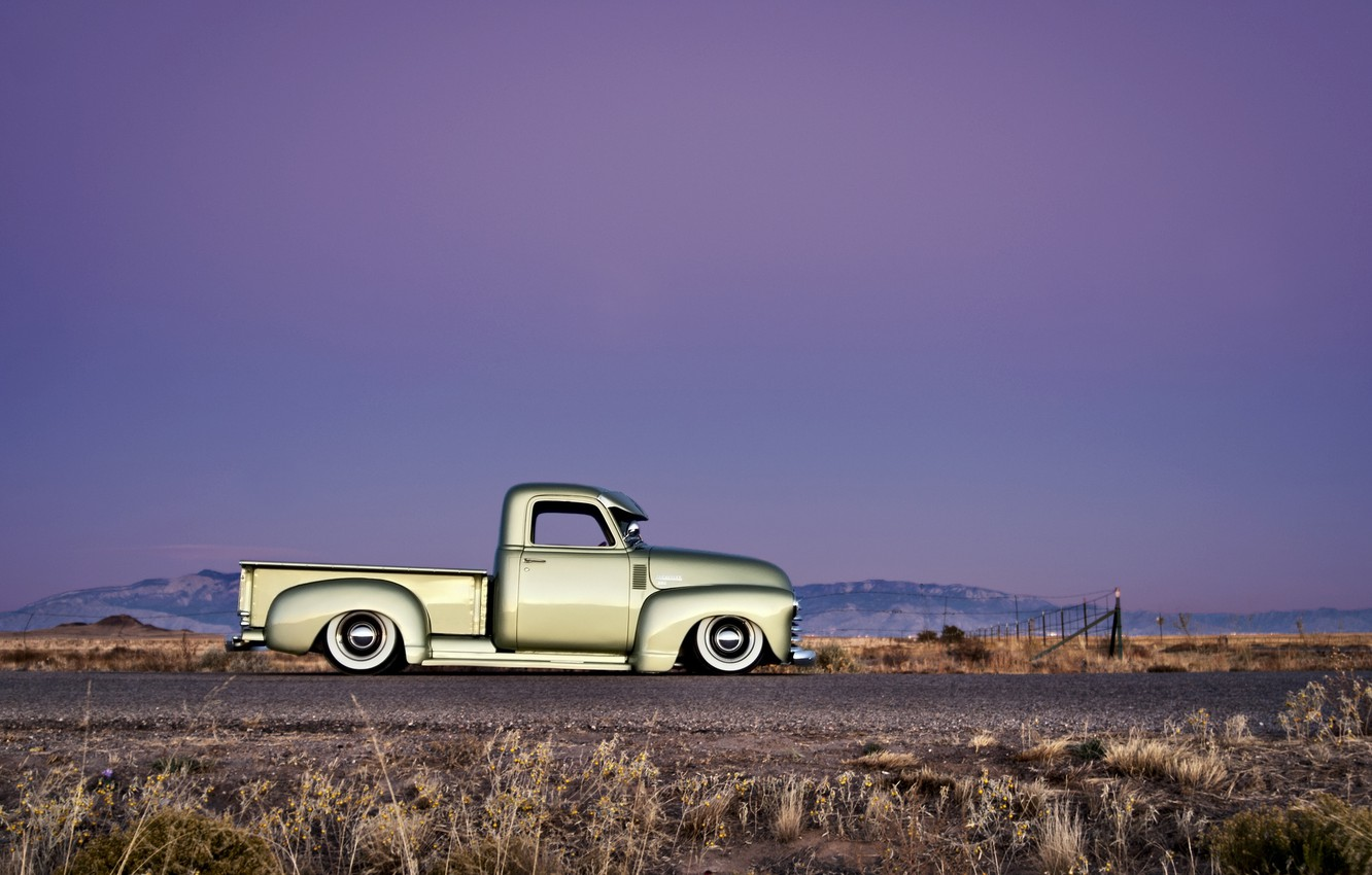 Photo wallpaper the sky, tuning, Chevrolet, Chevy, 1949, Pick up
