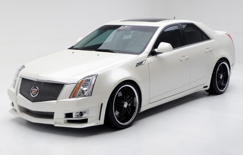 Photo wallpaper white, Cadillac, 2009, Cadillac CTS