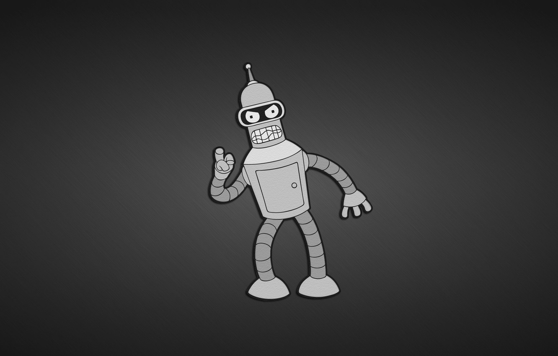 Photo wallpaper robot, Bender, Futurama, series.