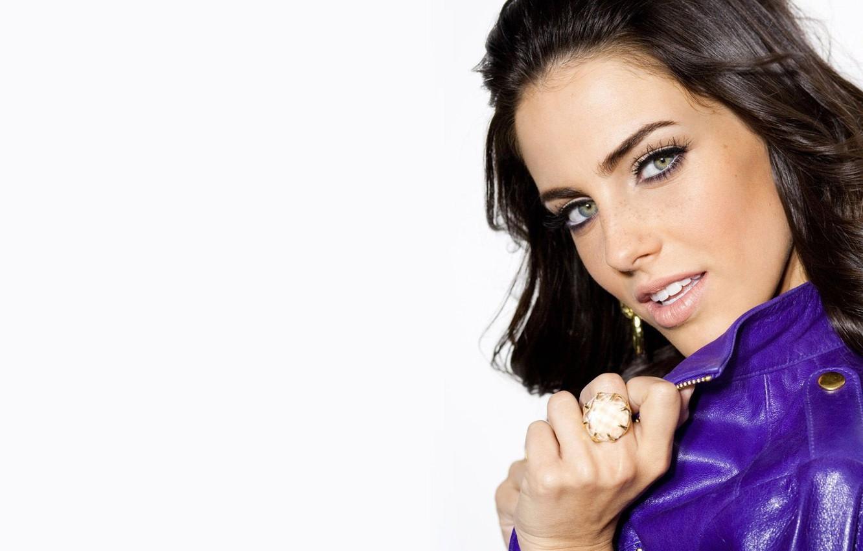 Photo wallpaper Girl, Eyes, Jacket, Purple, Ring