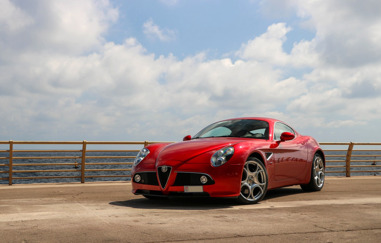 Photo wallpaper Alfa Romeo, Red, Competition, 8C