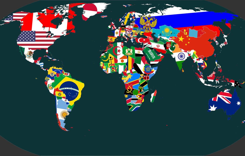 Wallpaper Map, Planet, Australia, Flags, Africa