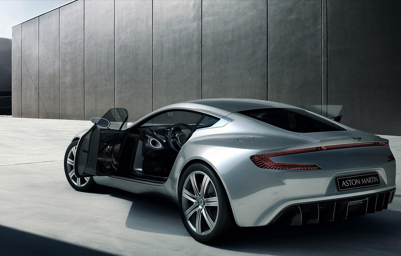 Photo wallpaper Aston Martin, silver, ONE77