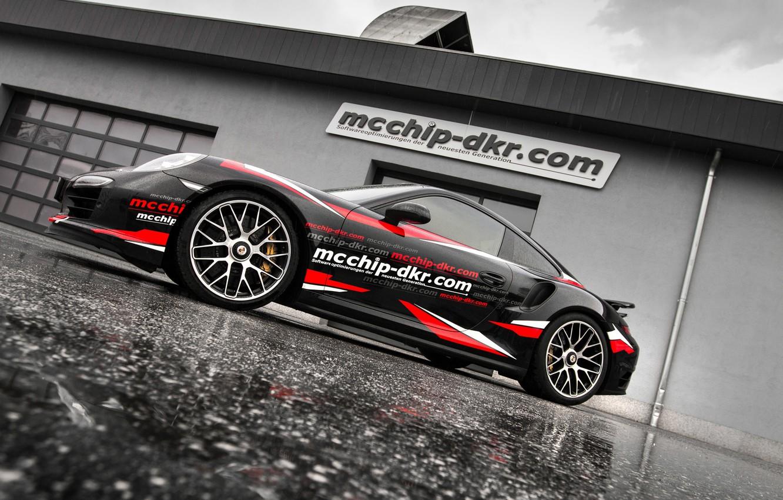 Photo wallpaper 911, Porsche, Porsche, 991, Turbo S, 2015, McChip-DKR