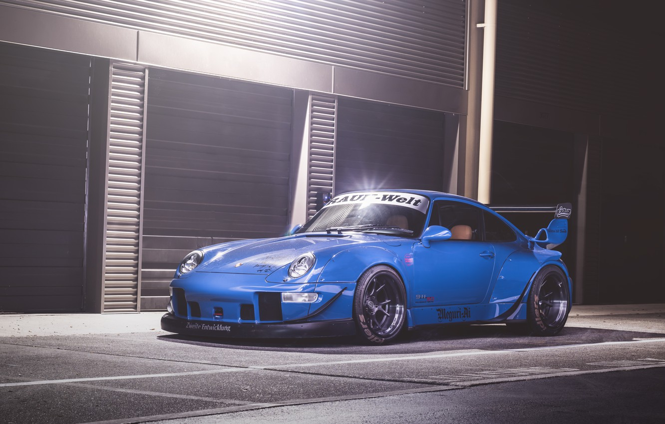 Photo wallpaper 911, Porsche, Blue, GT3, 993