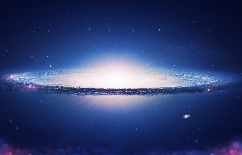 Photo wallpaper space, sky, galaxy, spiral