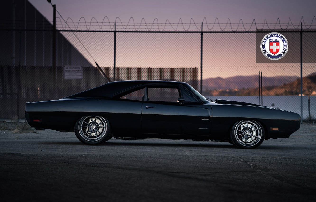 Photo wallpaper 1971, Dodge, Charger, with, HRE, Brushed, Tantrum, S104