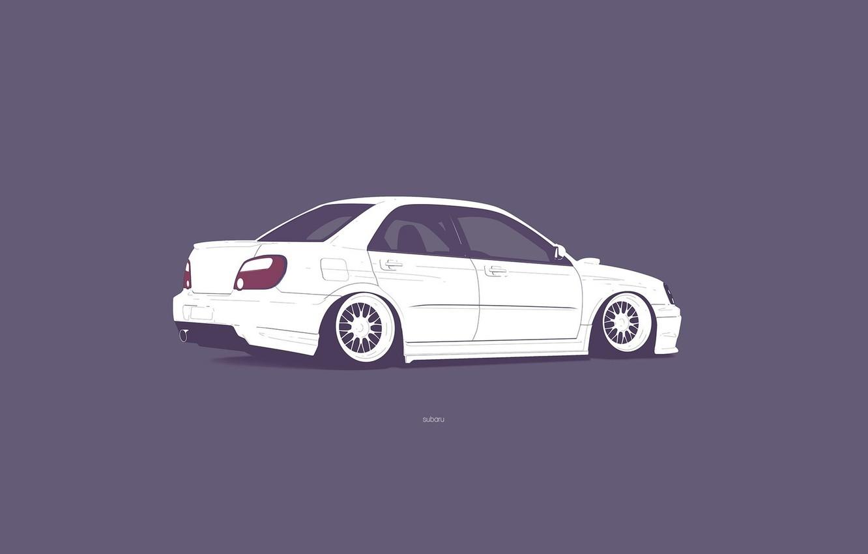 Wallpaper Subaru Impreza Wrx Sti Minimalistic Images For