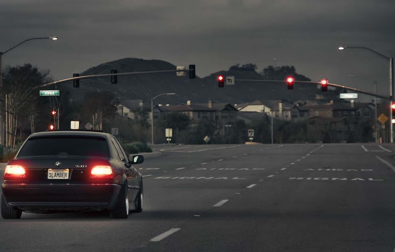 Photo wallpaper road, tuning, drives, Boomer, seven, e38, bumer, bmw 740, Dylan Leff