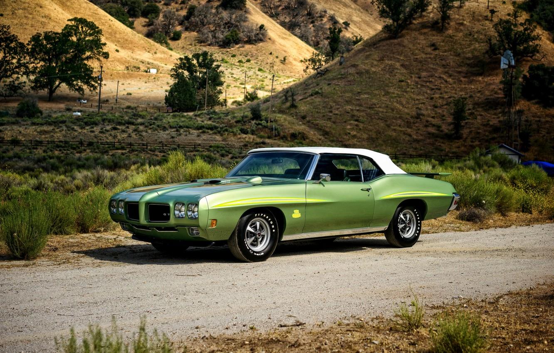 Photo wallpaper Pontiac, GTO, 1970, Pontiac, Convertible, Ram Air III, The Judge