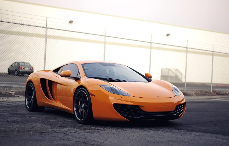 Photo wallpaper McLaren, Machine, Orange, McLaren, Orange, Car, Car, Beautiful, Wallpapers, Beautiful, Supercar, mp4-12c, Wallpaper, MP4-12C