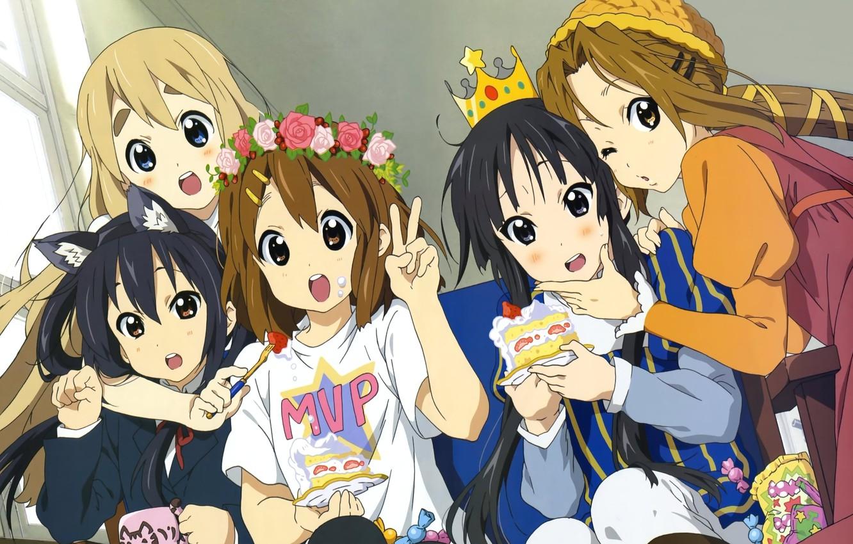 Wallpaper K On Anime Azusa Nakano Mio Akiyama Yui Hirasawa