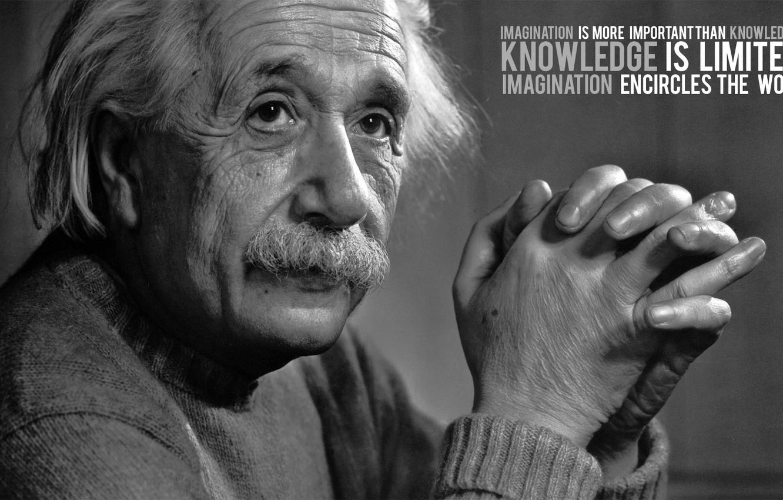 Photo wallpaper the idea, quote, Einstein