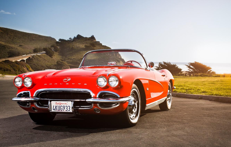 Photo wallpaper Corvette, classic, chevrolet, Chevy, 1962, California Dreaming