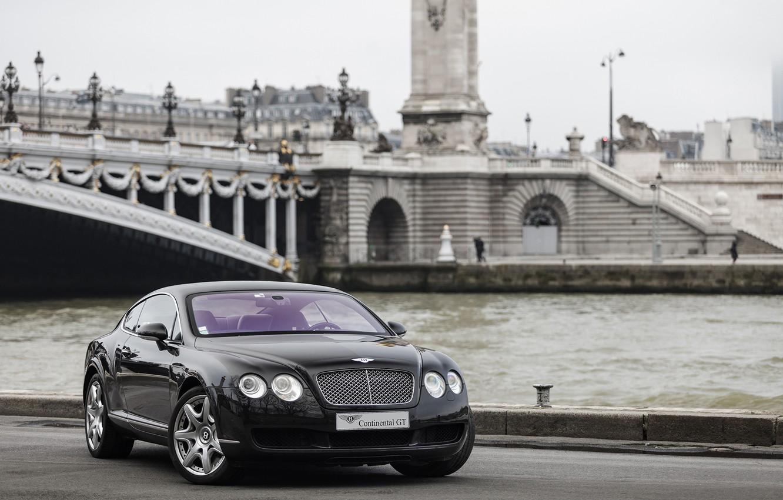 Photo wallpaper Bentley, Continental, Black, Diamond
