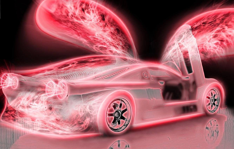 Photo wallpaper pink, wings, ferrari, Ferrari, pink, 2880x1800, car