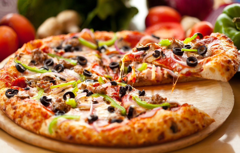 Photo wallpaper food, pizza, pizza